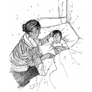 Child sick with malaria (Artist: Shaw, Rod)