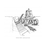 Mechanised cleaning of an earth drain (Artist: Shaw, Rod)