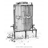 Emergency water tank on a frame (Artist: Shaw, Rod)