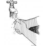 Handwashing under a running tap (Artist: Shaw, Rod)