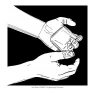 Handwashing with black background 1b (Artist: Shaw, Rod)