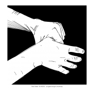 Handwashing with black background 7 (Artist: Shaw, Rod)