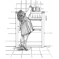 Child reaching for a hot pan (Artist: Shaw, Rod)