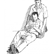 Rest position for a heart attack victim (Artist: Shaw, Rod)