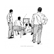 Dissemination - watching the TV (Artist: Shaw, Rod)