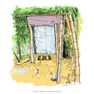 Simple pit latrine - colour (Artist: Shaw, Rod)
