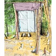 Simple pit latrine - colour v2 (Artist: Shaw, Rod)
