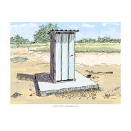 Simple pit latrine 2 - colour (Artist: Shaw, Rod)