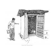 Bucket latrine 2 showing bucket (Artist: Shaw, Rod)