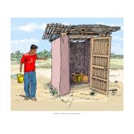Bucket latrine 2 showing bucket - colour (Artist: Shaw, Rod)