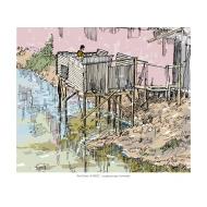 Overhanging latrine 2 - colour (Artist: Shaw, Rod)
