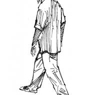 Man walking 2 (Artist: Shaw, Rod)