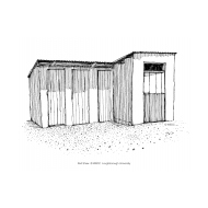 School latrine block in Uganda (Artist: Shaw, Rod)