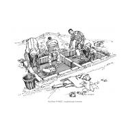 Building a raised latrine (Artist: Shaw, Rod)