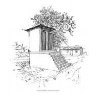 Raised latrines showing- steps (Artist: Shaw, Rod)