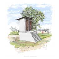 Raised latrines showing  steps - colour (Artist: Shaw, Rod)
