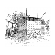 Raised latrines with vent pipes (Artist: Shaw, Rod)