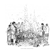 A funeral pyre (Artist: Shaw, Rod)