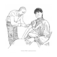Pregnant woman receiving an injection (Artist: Shaw, Rod)