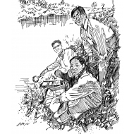 Water sampling and analysis by a river (Artist: Shaw, Rod)