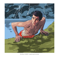 Boy getting out of water - colour (Artist: Shaw, Rod)
