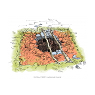 Open pit with sticks - colour (Artist: Shaw, Rod)