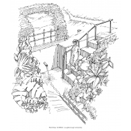 Protected spring with access steps and handrail (Artist: Shaw, Rod)