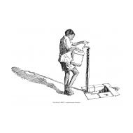 Boy at a standpost (Artist: Shaw, Rod)