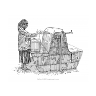 Woman filling a jerrycan at a standpost (Artist: Shaw, Rod)