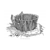 Emergency water tank with two figures (Artist: Shaw, Rod)