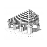 Timber stacked for seasoning (Artist: Shaw, Rod)