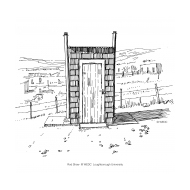 Latrine with two pits and vent pipes (Artist: Shaw, Rod)