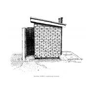 Twin-pit-latrine - side-view (Artist: Shaw, Rod)
