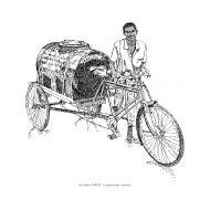 Water vendor with cycle cart (Artist: Shaw, Rod)