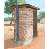 Blair VIP latrine 3 - colour (Artist: Shaw, Rod)