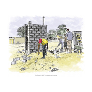VIP latrine - offset - under construction - colour (Artist: Shaw, Rod)