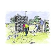 VIP latrine - offset - under construction - colour - small (Artist: Shaw, Rod)