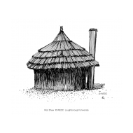 VIP latrine - thatched 1 (Artist: Shaw, Rod)