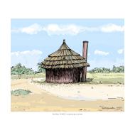 VIP latrine - thatched 1 - colour (Artist: Shaw, Rod)