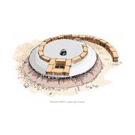 VIP latrine - with slab under construction - colour v1 (Artist: Shaw, Rod)