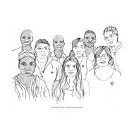 Multi-cultural volunteers (Artist: Shaw, Rod)