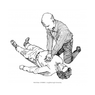 Volunteer performs chest compressions v2 (Artist: Shaw, Rod)