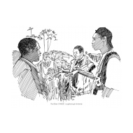 Volunteers talking to villagers (Artist: Shaw, Rod)