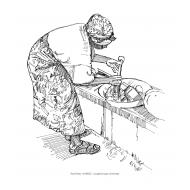 Washing up (Artist: Shaw, Rod)