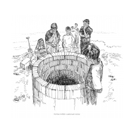 Community building a well (Artist: Shaw, Rod)