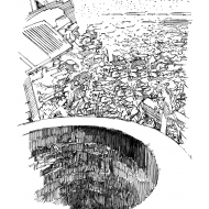 Debris close to a well (Artist: Shaw, Rod)