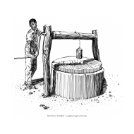 Drawing water from a well 1 v1 (Artist: Shaw, Rod)