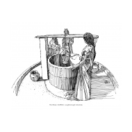 Women drawing water from a well (Artist: Shaw, Rod)