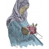 Mother and baby - colour (Artist: Shaw, Rod)