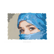 Muslim-woman v1 - colour (Artist: Shaw, Rod)
